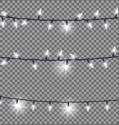 strings of glowing christmas lights vector image