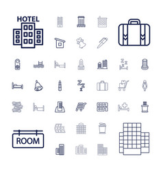 37 hotel icons vector