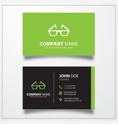 3d glasses icon business card template vector
