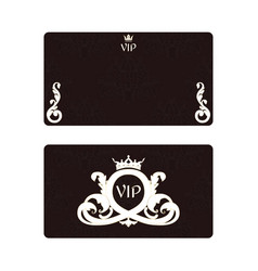 An elegant business card for vip with foliage and vector