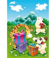 Animals Birthday2 vector image
