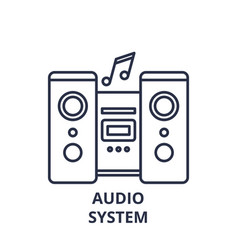 audio system line icon concept audio system vector image