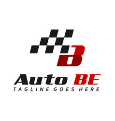 automotive logo design initial b vector image