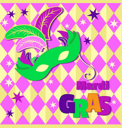 Background with mardi gras mask vector
