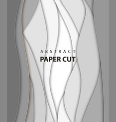 background with white and gray color paper cut vector image