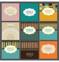 Big Collection Set of Retro Vintage Background vector image