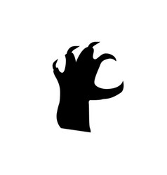 Black silhouette of grab reacting zombie hand vector