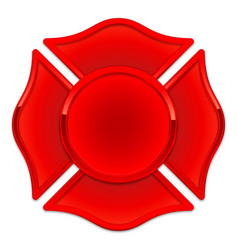 Blank fire department logo base red with red trim vector