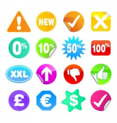 bright stickers vector image
