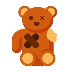 Broken toy bear vector