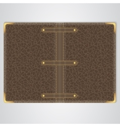 Brown leather cover of the book vector