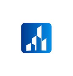 building cityscape icon logo vector image