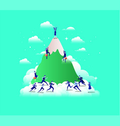 Business people in mountains vector