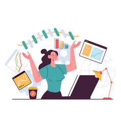 business woman character office workers vector image
