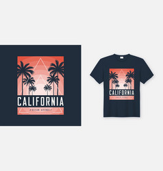 California ocean avenue t-shirt and apparel design vector