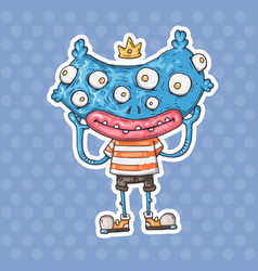 cartoon many-eyed monster vector image