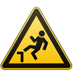 caution possible fall from height attention is vector image