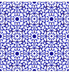 Chinese pattern blue and white vector