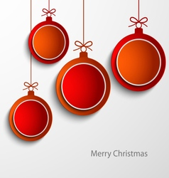 Christmas card with abstract orange and red balls vector