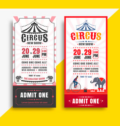 circus show tickets vector image