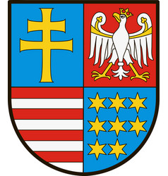Coat of arms of swietokrzyskie vs in poland vector