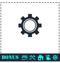 Cog icon flat vector