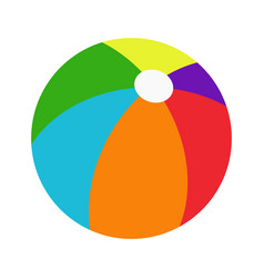 Color beachball vector