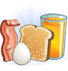 Complete balanced breakfast cartoon vector