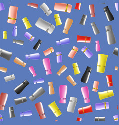 Cosmetic colored tubes seamless pattern vector