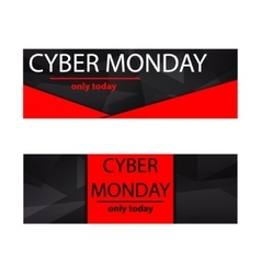 Cyber monday sales web elements vector