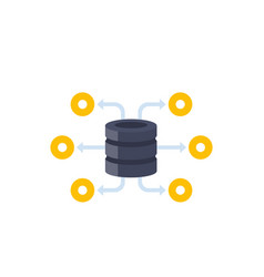 database and data storage icon vector image
