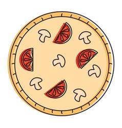delicious italian pizza icon vector image
