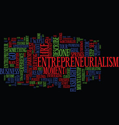 entrepreneurialism a walk in the dark text vector image