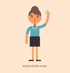Expressions and emotions dissatisfied chief vector
