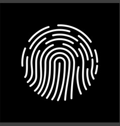 fingerprint icon biometric identification symbol vector image