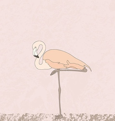 FlamingoStand4 vector