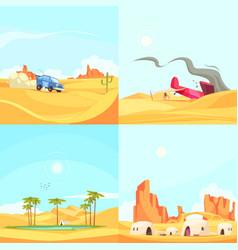 Flat desert design concept vector