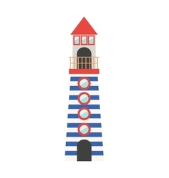 Full color with Tower of Lighthouse vector