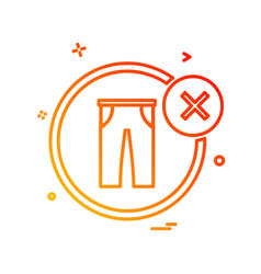 garments icon design vector image