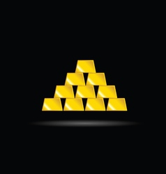 Gold bullion yellow vector