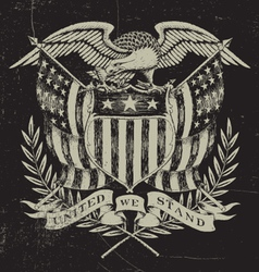 Hand drawn american eagle vector