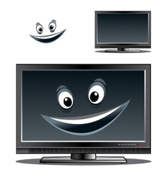 Happy computer monitor or tv scren vector image
