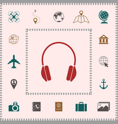 headphones icon symbol elements for your design vector image