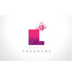 Il i l letter logo with pink purple color and vector