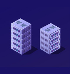 isometric 3d set blockchain vector image