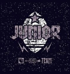 junior rugteam emblem vector image