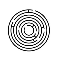 Labyrinth icon maze and intricacy confuse symbol vector