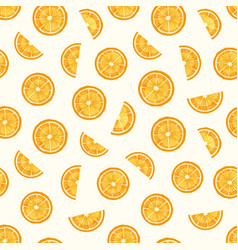 lemon slices hand drawn seamless pattern vector image