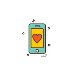 love mobile icon design vector image