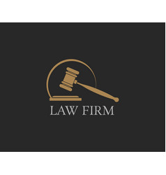 Luxury and premium logo law firm vector